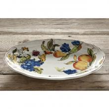 Scalloped Oval Tray Frutta Antica