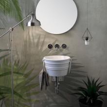 Round Countertop/Wall-hung Washbasin Bacile Midi  White
