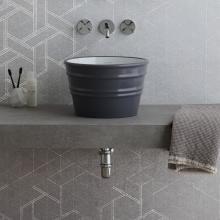 Round Countertop/Wall-hung washbasin Bacile Midi  Matt Cosmos Grey