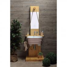 Wooden cabinet for Tinozza wash basin Pozzo