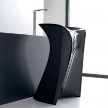 Freestanding Washbasin Miss Glossy Black