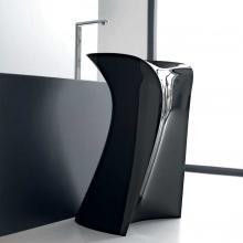 Freestanding Washbasin Miss Glossy Black