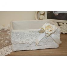 Small Rectangular Hamper with Lace