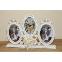 Frames with Clock in Light Wood