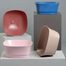 Square countertop washbasin cm 42x42 Idea Quadrato