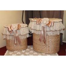 Set 2 Laundry Baskets Romantic
