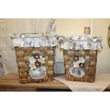Set 2 Laundry Baskets Mosaico