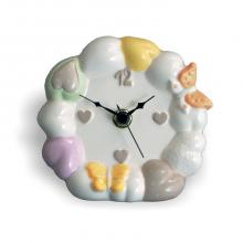Small Clock Table Hearts