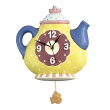 Pendulum Clock Teapot Round