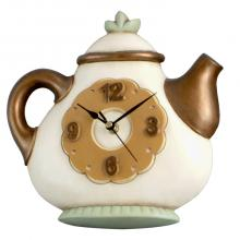 Clock Teapot Round Copper