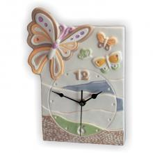 Clock Butterfly Rectangular 22x30 cm