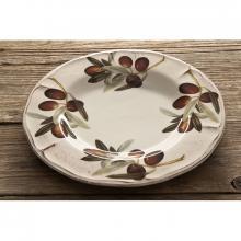 Scalloped Dinner Plate Olive