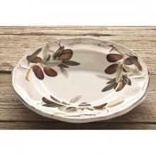 Scalloped Deep Plate Olive