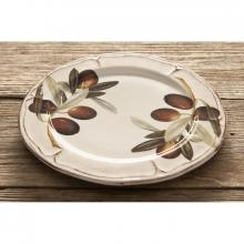 Scalloped Fruit Plate Olive