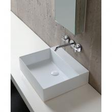 Wall-hung/Countertop Washbasin cm 50  Elegance Squared
