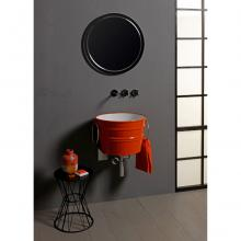 Round Countertop/Wall-hung Washbasin BacileGlossy  Energy Orange