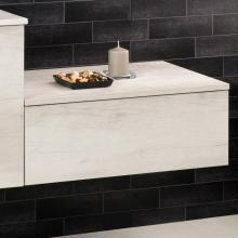 Wall-hung base with drawer Unika