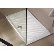 Rectangular Shower Plate Texture 80x100xH5