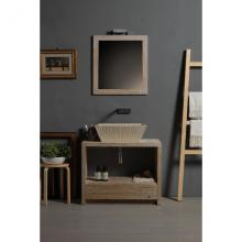 Rectangular Countertop/Wall-hung Washbasin Pietra Botticino