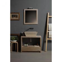 Rectangular Countertop/Wall-hung Washbasin Pietra Botticino
