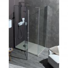 Corner shower cabin cm 140x200 with hinge door 8MILL INFINITY