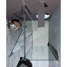 Corner shower cabin cm 110x200 with hinge door 8MILL INFINITY