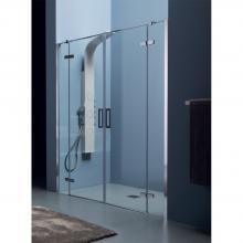 Niche shower cabin cm 200x200 with double hinge door 8MILL INFINITY