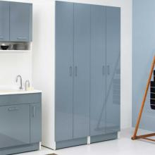 Laundry column 2 doors and 6 internal shelves Brava Blue