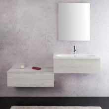 Wall-hung bathroom composition cm 160 Unika White Elm