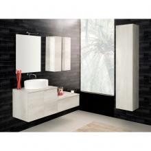 Wall-hung Bathroom Composition Unika  140 white elm