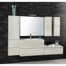 Wall-hung Bathroom Composition Unika  185 white elm