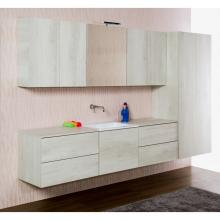 Bathroom/laundry wall-hung composition cm 270 Unika