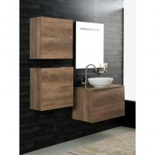 Wall-hung Bathroom Composition Unika 80 dark elm