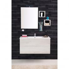 Wall-hung Bathroom Composition Unika cm 100 white elm