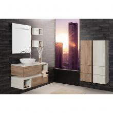Wall-hung Bathroom Composition Unika cm 100 with columns