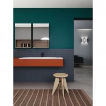 Countertop/wall-hung washbasin cm 106x51 Slim