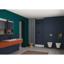 Countertop/wall-hung washbasin cm 121x51 single or double basin Slim