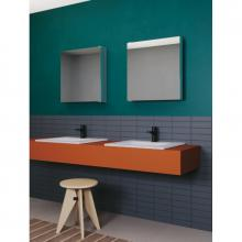 Countertop/wall-hung washbasin cm 61x51 Slim