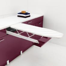 Laundry cabinet with pull-out ironing board