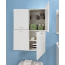 Laundry column with two right doors and four internal shelves Brava