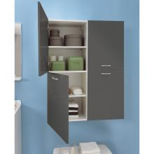 Laundry column with two left doors and four internal shelves Brava