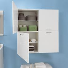 Laundry column with two left doors and internal shelves Brava