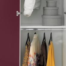 Laundry column with two doors and two clothes hangers Colf