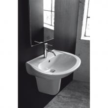 Washbasin with semi pedestal Krio