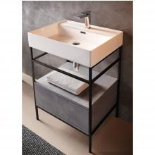 Countertop/Wall-hung washbasin cm 46x61 Faster Kiub