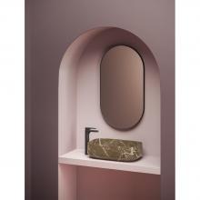 Countertop wash basin 56x41 cm Cognac Quadro Marmi & Graniglie