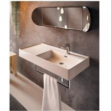 Countertop/Wall-hung washbasin with left top cm 46x101 Faster Kiub
