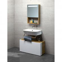 Wall-hung/countertop wash basin cm 65 Prua