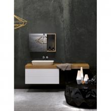 Washbasin wall-hung cabinet with drawer cm 170 Stiva