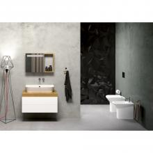 Wall-hung/countertop wash basin cm 75 Prua